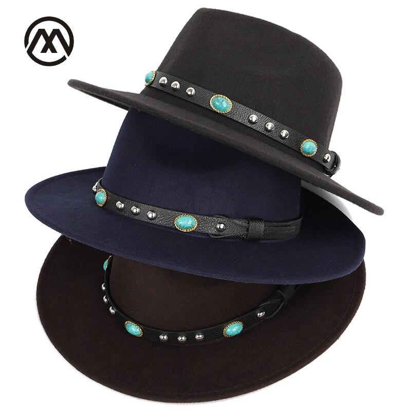 Solido di modo superficiale fedora cappelli di lana bowler caldo e confortevole uomini e donne universale classic cappello di grandi dimensioni 60 cm ebraica