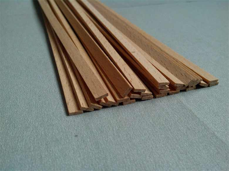 NIDALE Model 0.6 mm thickness Red beech HI-Q sail boat hull Special-purpose material Solid wood batten 50 pcs/lot