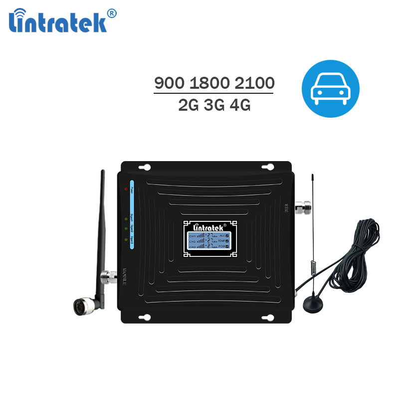Lintratek Car Repeater 2G 3G 4G Signal Booster 900 1800 2100Mhz Car Mobile Phone Signal Repeater GSM 900 3G 2100 4G LTE 1800 #5