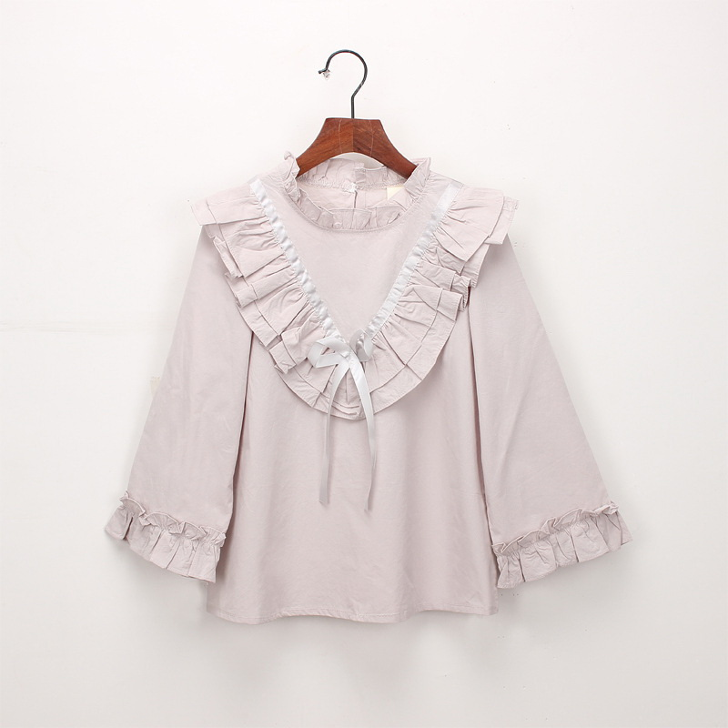 45-9-baby girl ruffles Solid blouses