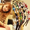 1 PCS New Fashion Mulheres Lady Meninas Rhinestone Cristal Headband Delicado Brilho Faixa de Cabelo Headwear Acessórios Para o Cabelo 6 Cores
