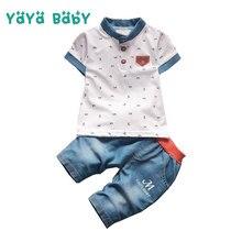 3bbc785b184dd 1 2 3 4 Year Boys Clothes Summer Cotton Shirts Shorts 2pcs Toddler Children  Clothing Set