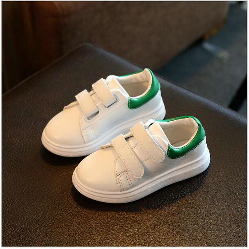 children s shoes 2017 spring and autumn plush waterproof leather boys and girls leisure sports white running trail shoes genuine