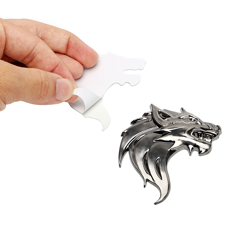 US $1 8 23% OFF|LEEPEE Badge Logo Car Sticker Reflective Decal Auto  Decoration Badge Motorcycle Wolf Head Emblem 3D Metal Windshield-in Car  Stickers