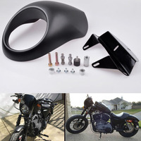 High Quality ABS Plastic Matte Black Headlight Fairing Mask For Harley Sportster Front Cowl XL 1200