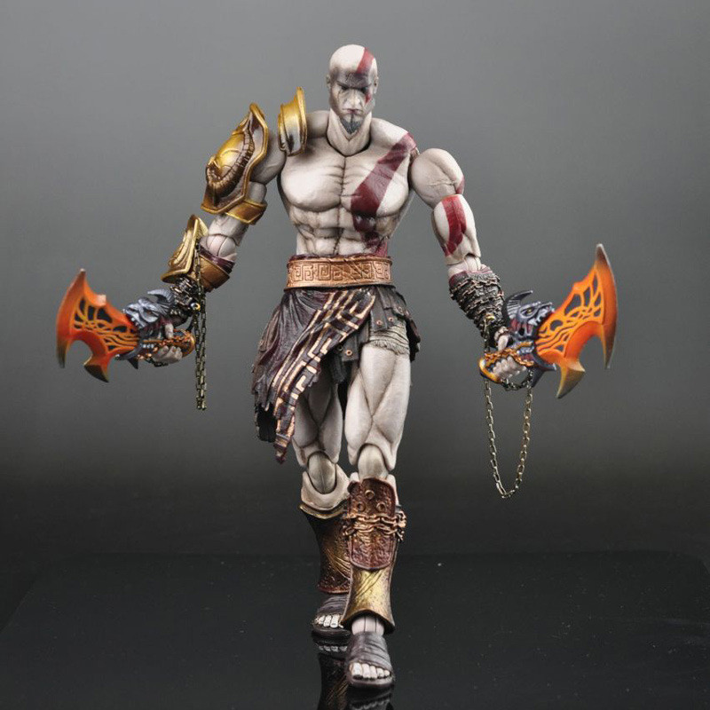 New God of War 7.5 Or 10 God of War Kratos in Golden Fleece Armor with Medusa Head PVC Action Figure Collectibles Model