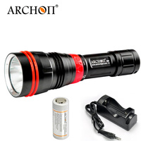 ARCHON DY01 WY07 1000 lumens 6500k CREE XP L LED Diving Flashlight Torch Light with 100M by 26650 Battery and Charger
