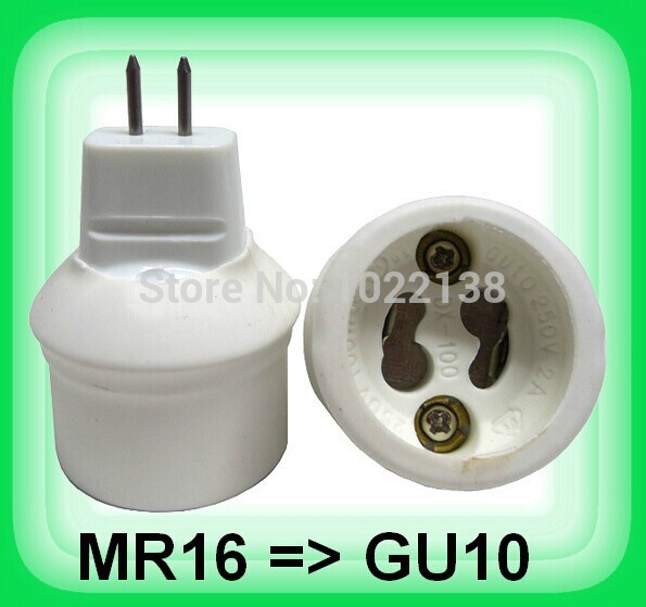 10pcs MR16 To Gu10 Led Lamp Base Converter Light Bulb Holder Gu10 Led Socket Adapter No Convert Electrical Voltage