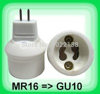 10pcs MR16 to Gu10 led lamp base converter light bulb holder Gu10 led socket adapter no convert electrical voltage