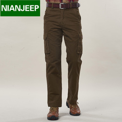 Brand nian jeep men pants cargo thick and warm loose 100 cotton amry new 2016 pockets.jpg 250x250