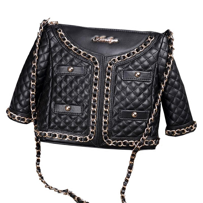 Ameiliyar Limited 2018 Designer Women Leather Bags Handicraft Rivet Jacket Punk Style Messenger Bag Chain Shoulder Crossbody free shipping 2017 new designers women leather bags handicraft rivet jacket punk style messenger bags shoulder crossbody bag go
