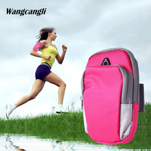 купить Wangcangli Armband For iPhone 7 Plus Universal Sports Running Bag For Samsung for xiaomi Mobile Phone Arm Band Outdoor Pouch дешево