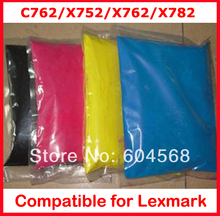 High quality color toner powder compatible Lexmark C762/X752/X762/X782//762/782 Free Shipping