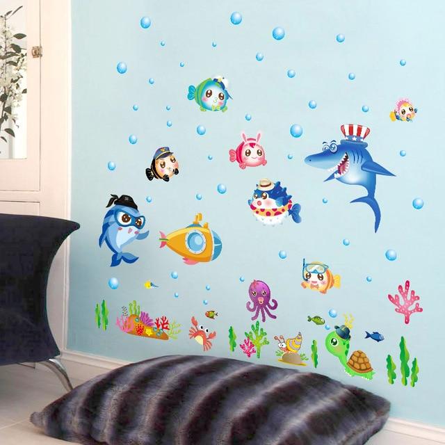 Fundecor] fondale mondo adesivi murali per camere dei bambini scuola ...