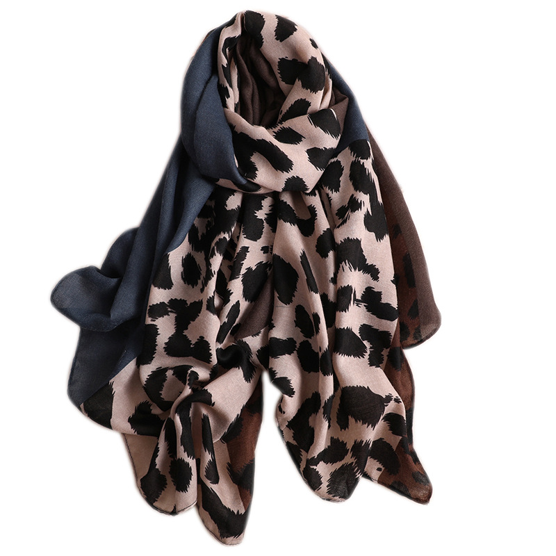 Luxury Brand 2019 Srping Women Cotton Long Scarf Leopard Print Thin Hijab Soft Summer Lady's Pashmina New Viscose Autumn Shawl