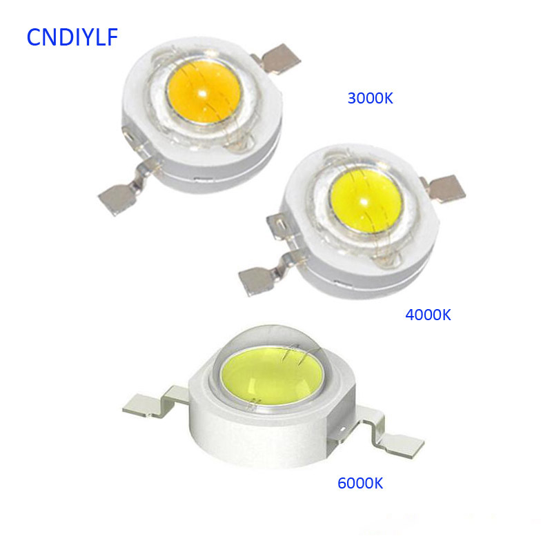2017 New Arrive Epistar  1W Power LED 3V 300ma 110-120lm 35mil LED Chip 3000K 4000K 6000K Possible Shipping Out In 24 Hours