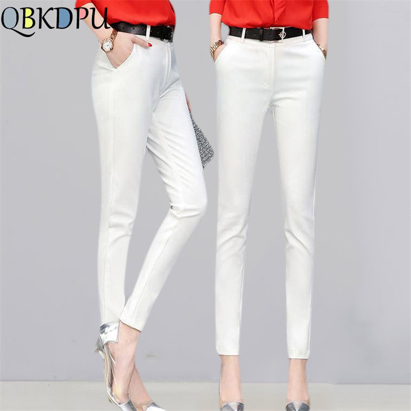 Casual Office Wear Pencil Pants Business Attire Red White High-quality Leggings Women Of Trousers Women Harem Pants Suit Pants