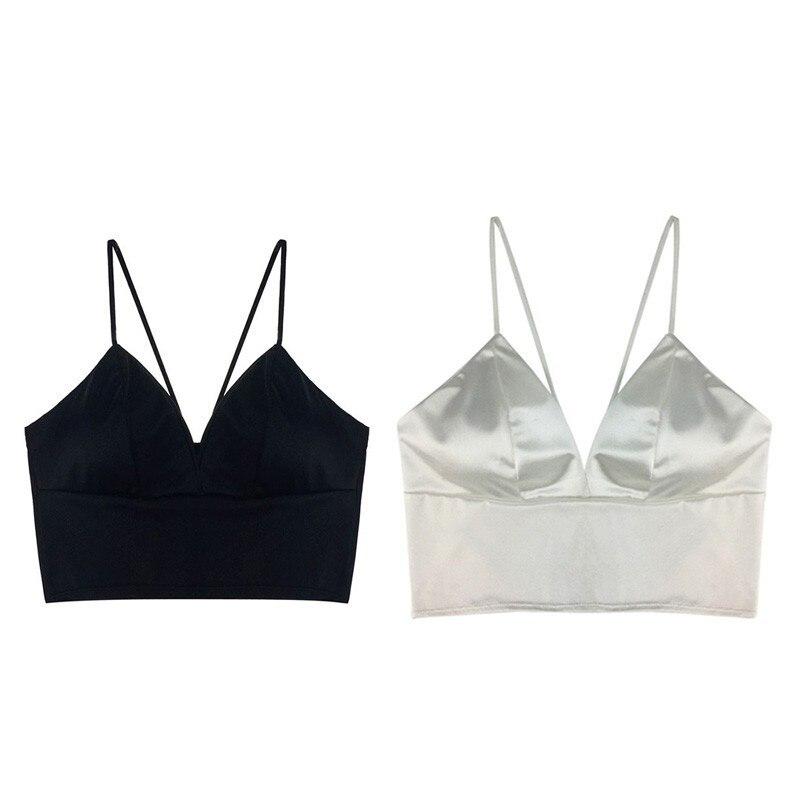 Summer Women Sexy Short Bralette Low Cut Top Bandage Bra Cutaway Tank Tops Womens Underwear