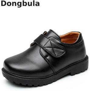 Image 1 - جديد بنين أحذية من الجلد النمط البريطاني مدرسة الأداء أطفال أحذية الحفلات الزفاف أبيض أسود أحذية الأطفال الأخفاف غير رسمية