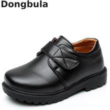 Yeni erkek deri ayakkabı İngiliz tarzı okul performans çocuklar düğün parti ayakkabıları beyaz siyah Casual çocuk mokasen ayakkabı