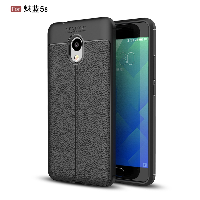 For MEIZU Meilan 5S  M612Q  M612M 5.2 Phone Back Protective Smartphone Soft Litchi striae Shockproof For Meilan5S Case Cover