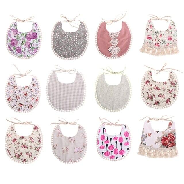 Baby Bibs Infant Girls Boy Kids Tassel Saliva Towel Bandana Triangle Bibs Head Scarf