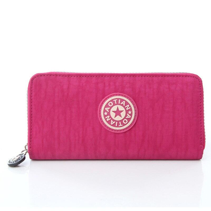 Womens washed cloth wallet multi-functional long wallet card bag light bag high-quality handbag long paragraph mobile phone bag