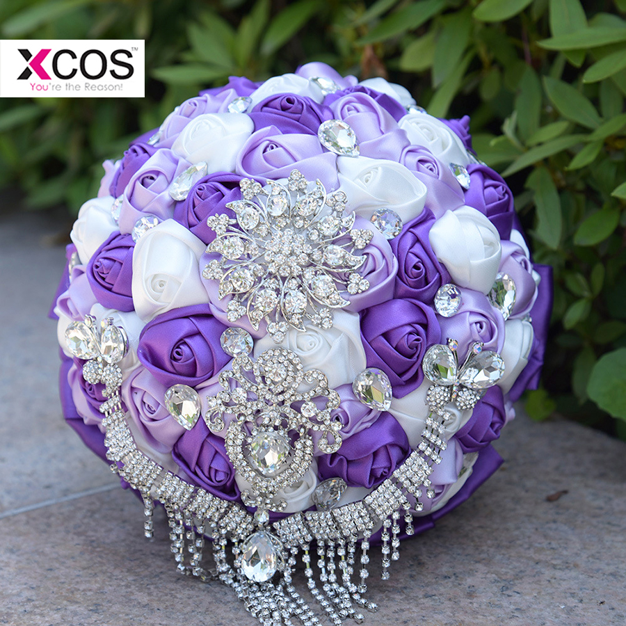 In stock red and white wedding bouquet luxury crystal beading in stock red and white wedding bouquet luxury crystal beading handmade silk rose flower bridal bouquets ramos de novia in wedding bouquets from weddings izmirmasajfo
