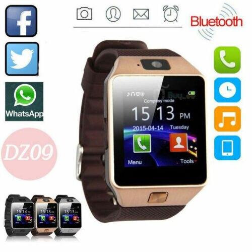 Mais recente DZ09 Smartwatch Relógio Inteligente Com Câmera À Prova D' Água Telefone Companheiro Para Android iPhone Samsung