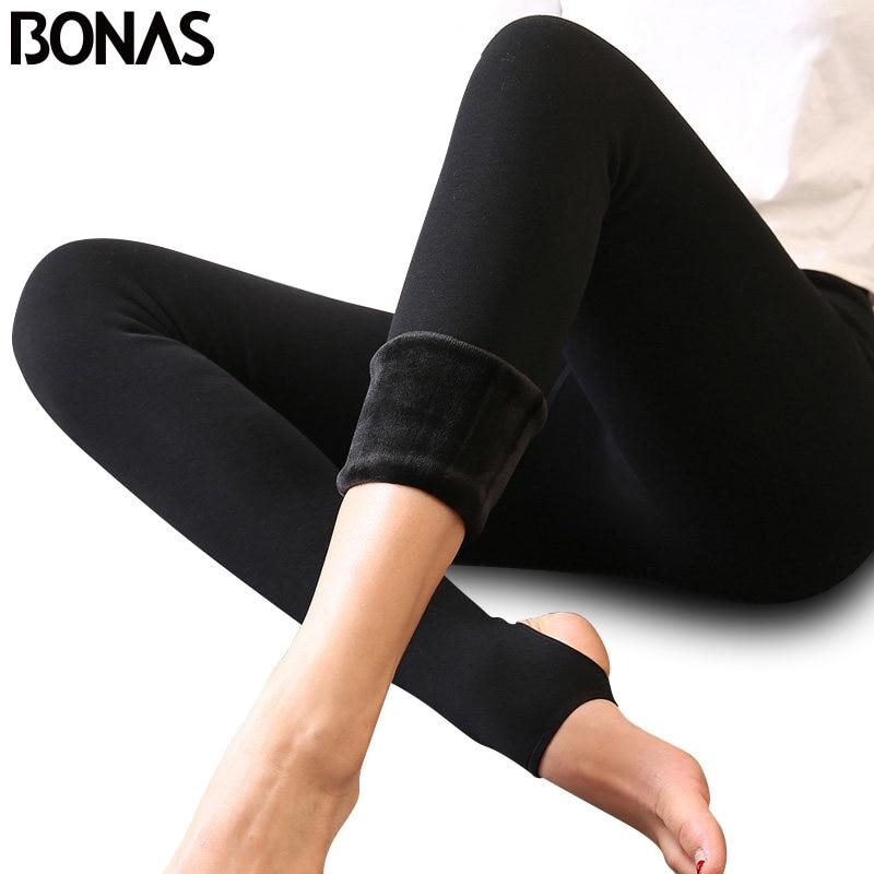 BONAS Thick Tights Velvet Pantyhose Tights Women Autumn Winter Velvet Tights Female High Elastic Waist Warm Pantyhose Hosiery tights