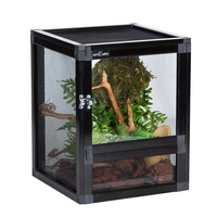 Reptile Home Mesh Cage Spider Terrarium Container Feeding Box for Reptile Spider Tank Ventilation Lizard Chameleon Horned Frogs