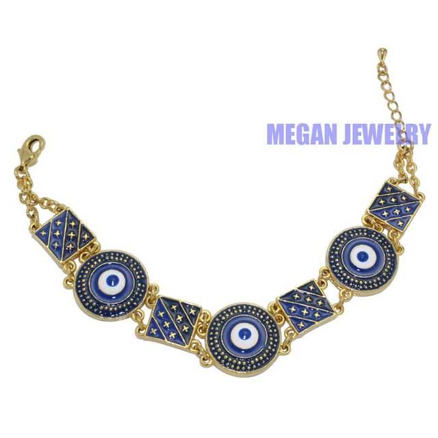 Muslim turkish blue evil eye bracelets bangles islam fashion jewelry in chain link bracelets from jewelry accessories on aliexpress muslim turkish blue evil eye bracelets bangles islam fashion jewelry mozeypictures Choice Image
