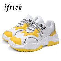 Man Running Shoes Spring Autumn Trainers Shoes For Men White Yellow Walking Male Sneakers Comfortable Mens Tracking Shoes