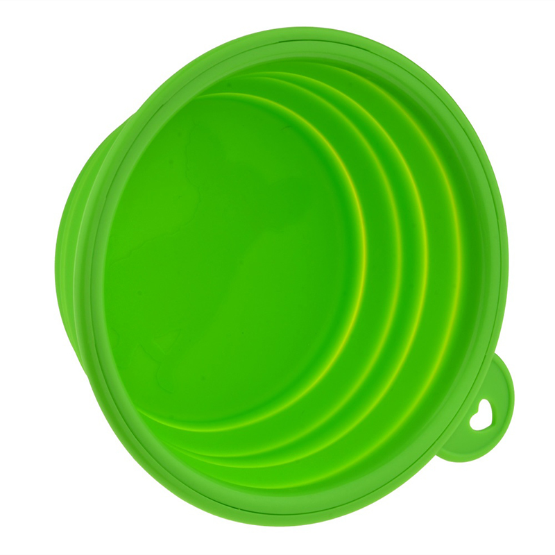 1pc Folding Silicone Dog Bowl Outfit Portable Travel Bowl For Dog Feeder Utensils Small Mudium Dog Bowls Pet Tools #5