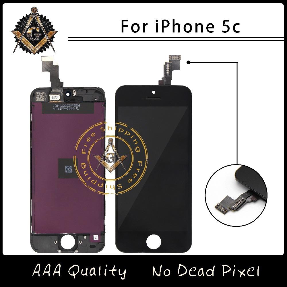 Prix pour 20 pcs/lote AAA excellente qualité LCD pour iPhone 5C écran avec écran tactile Digitizer assemblée livraison gratuite DHL
