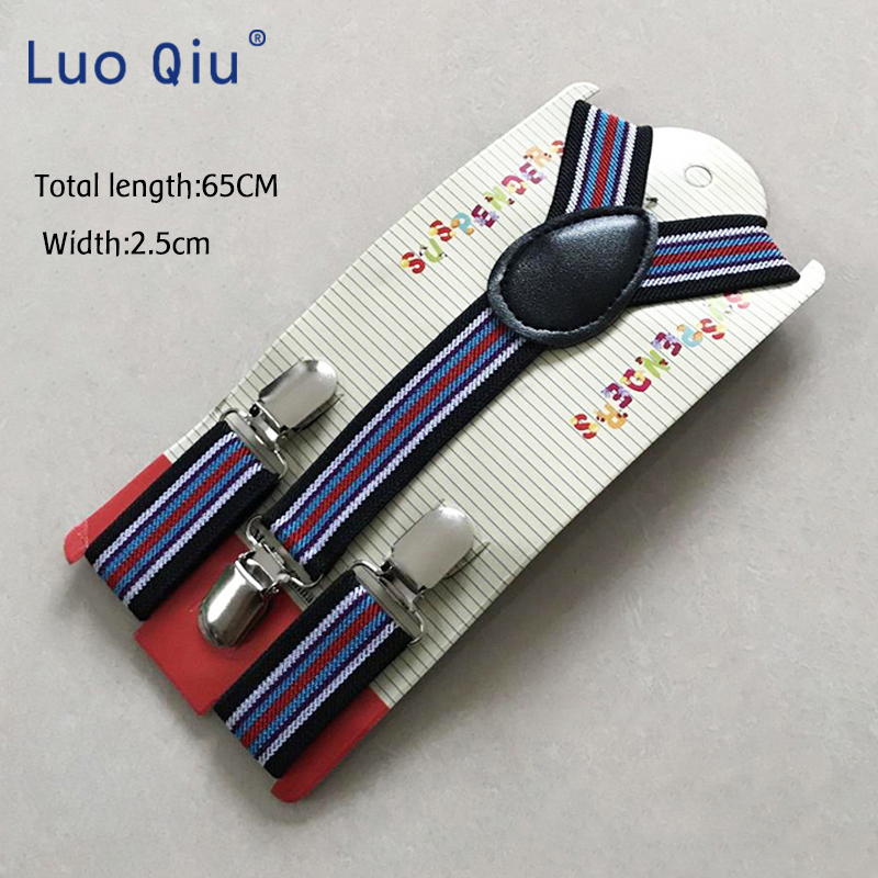 High Quality Boys, Girls Elastic Stripe Suspenders, Men's Wear, Pu Wallet, Straps, Adjustable Support