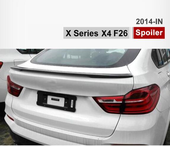 Carbon Fiber Car Rear Trunk Lip Spoiler Wing Fit For BMW X4 F26 2014 2015 2016 BY EMSCarbon Fiber Car Rear Trunk Lip Spoiler Wing Fit For BMW X4 F26 2014 2015 2016 BY EMS