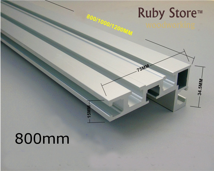 600mm/800mm Aluminium Profile For Fence 75mm Height With T-tracks