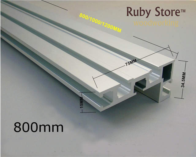 US $14 0 |600mm/800mm Aluminium Profile for Fence 75mm height with T  tracks-in Hand Tool Sets from Tools on AliExpress