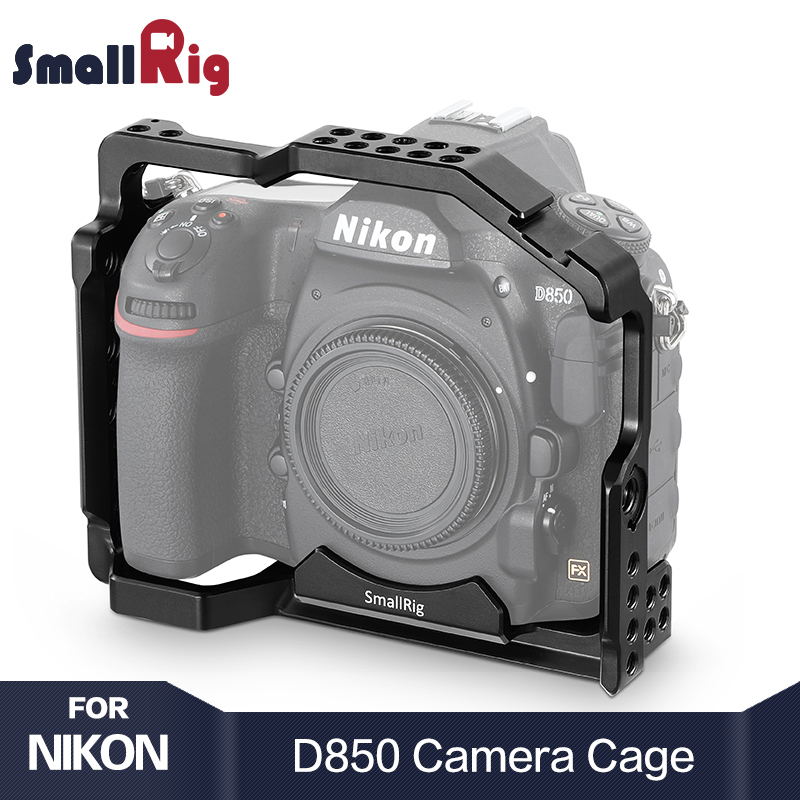 SmallRig D850 DSLR Camera Cage For Nikon D850 With Cold Shoe Mount Arri Locating Holes For DIY Options 2129