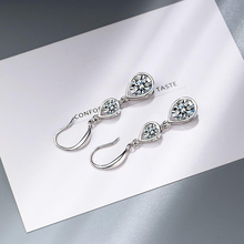 2019 Hot Sale 925 Sterling Silver Earrings For Women Jewelry Zircon Water Droplets Tassel Drop Earring Lady Anniversary Gifts цена