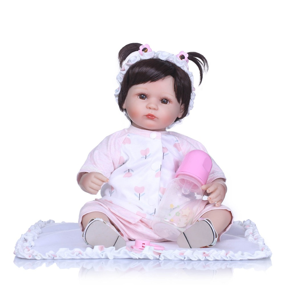 NPK 40cm Silicone Reborn Baby Doll Kids Playmate Gift for Girls Baby Alive Soft Toys for Bouquets Doll Bebe Reborn Toys