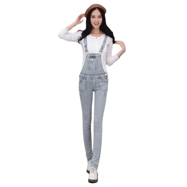 2017 ADM New Fashion Women Overalls / Denim Jumpsuit