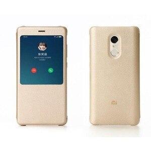 Image 2 - Original Xiaomi Redmi Note 4 4x Case pu leather Flip Case Xiaomi redmi note 4/note 4x X Global version Cover Smart Phone 5.5inch