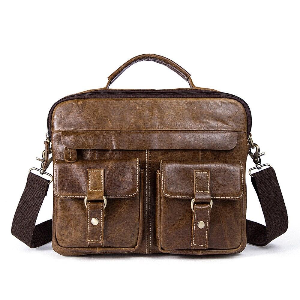 MYOSAZEE ชายของแท้กระเป๋าหนังผู้ชายกระเป๋าถือ 14 นิ้วกระเป๋า-ใน กระเป๋าเอกสาร จาก สัมภาระและกระเป๋า บน   2