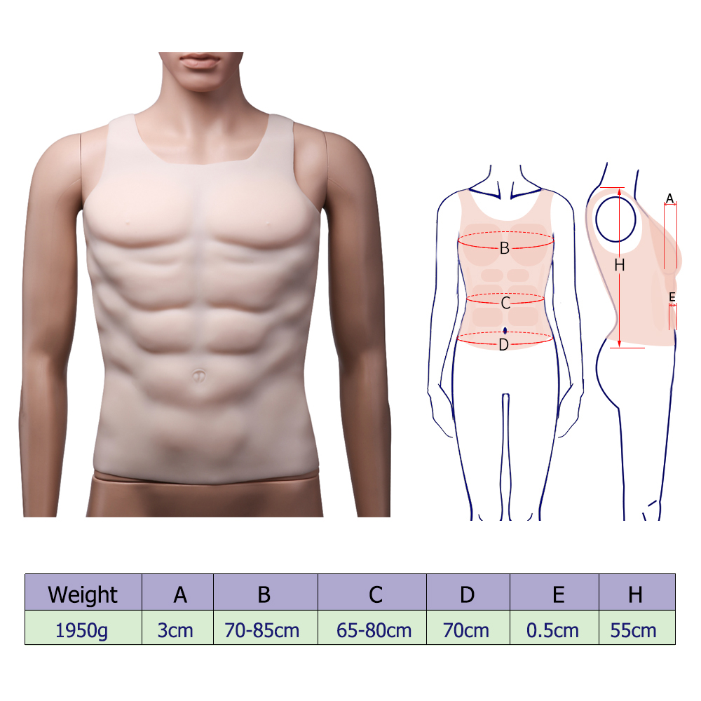 Details about  /IVITA Hunk Chest Muscle Man Silicone Fake Chest Muscle Pecloralis Muscle Cosplay