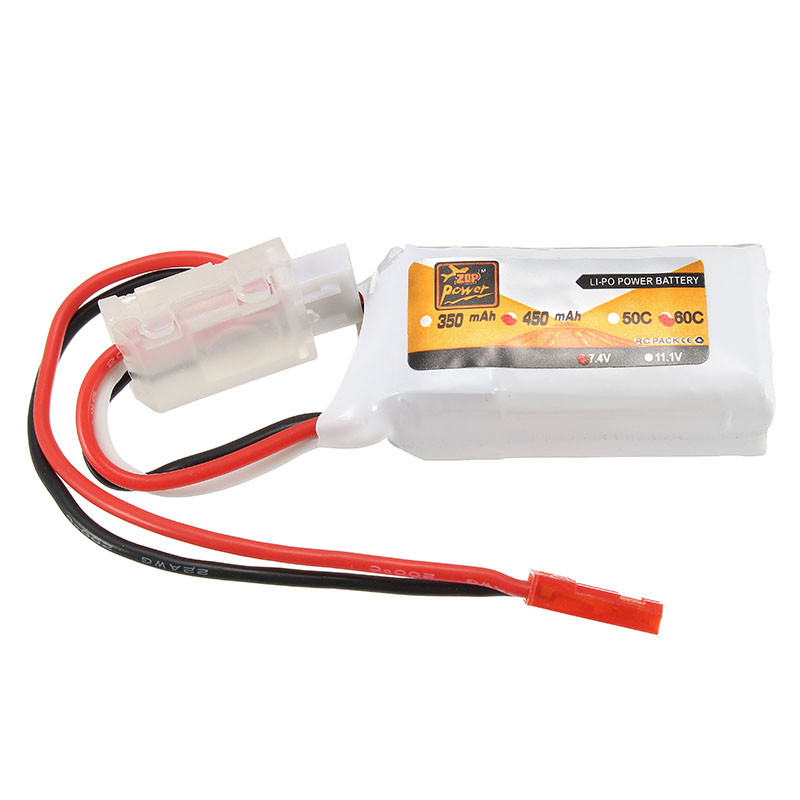 Rechargeable Lipo Battery ZOP Power 7.4V 450mAh 60C 2S Lipo Battery JST Plug vjoycar tk20sse 20000mah rechargeable removable battery