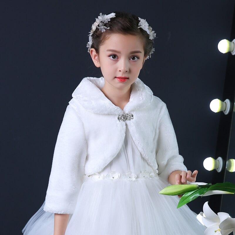 2017 Neue Winter Dekorative Prinzessin Mädchen Mantel Für Party Und Hochzeit Baby Kleidung Vestidos Infantis Langen Ärmeln Mantel