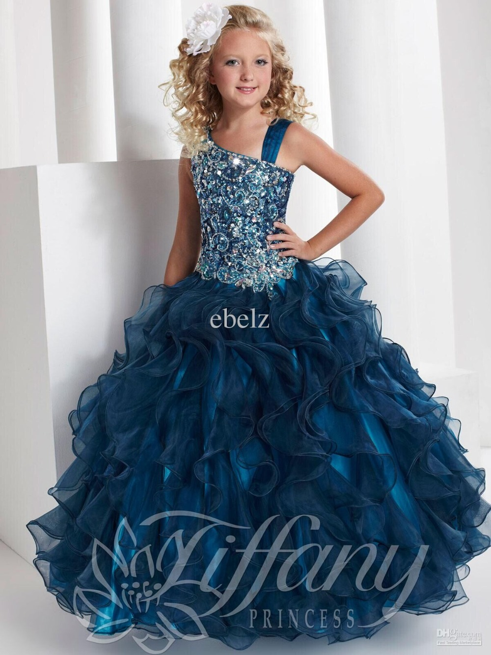 Popular Spaghetti Strap Girls Party Dresses Size 10-Buy Cheap ...