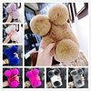 PANDA Soft Real Rex Rabbit Hair Fur Ball Case Cover For Iphone 7 6 6S Plus